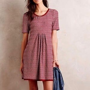 Anthropologie Maeve Dora Chiffon Knit Shift Dress